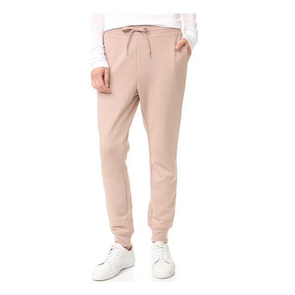 T BY ALEXANDER WANG soft french terry sweatpants - Cozy french terry complements the casual luxe feel of these...