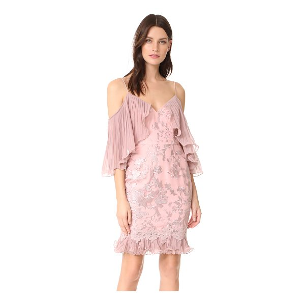 TALULAH valencia rose off shoulder mini dress - Pleated overlays hang from the neckline of this Talulah...