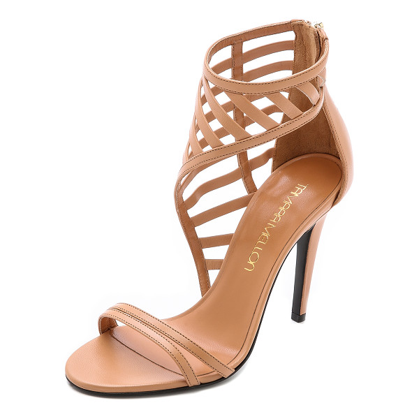 TAMARA MELLON Jealous sandals - Latticed, asymmetrical cuffs give these strappy leather...