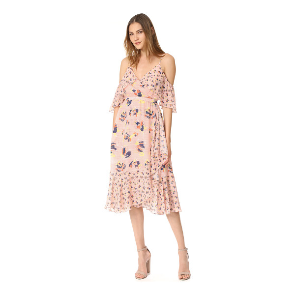 TANYA TAYLOR textured silk abstract floral amylia dress - NOTE: Runs true to size. Mixed floral prints accentuate the...
