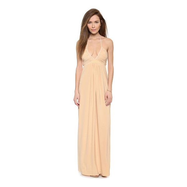 T-BAGS LOS ANGELES V neck maxi dress - A Tbags Los Angeles maxi dress cut from smooth jersey, and...