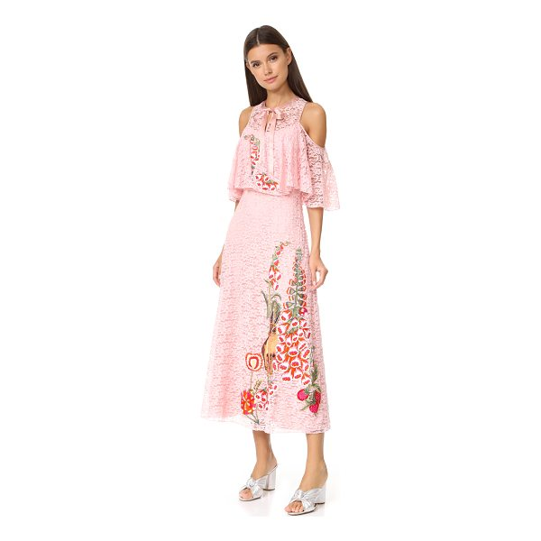 TEMPERLEY LONDON farewell dress - Vibrant embroidery adds a playful accent to this lace...