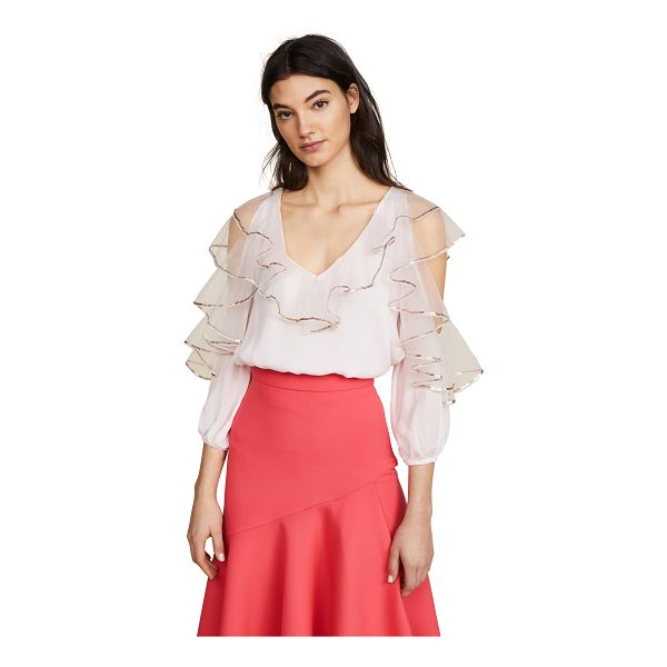 TEMPERLEY LONDON mineral top - Fabric: Crepe Pullover style Waist-length style V neck...