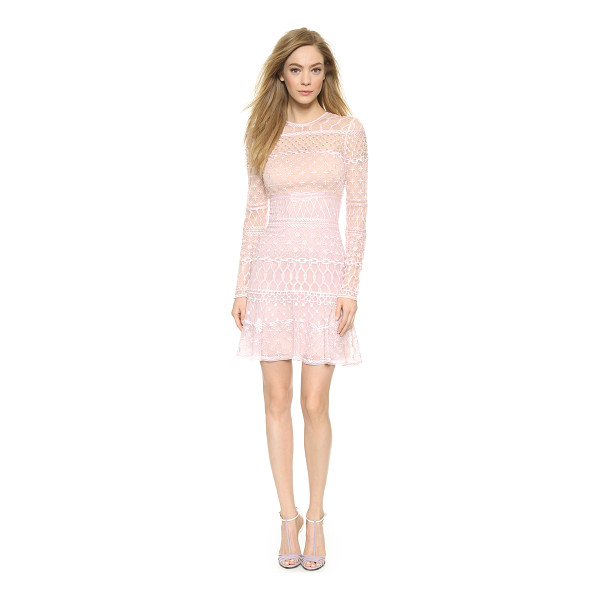 TEMPERLEY LONDON Mini fishnet dress - Elaborate embroidered patterns accent this airy organza...