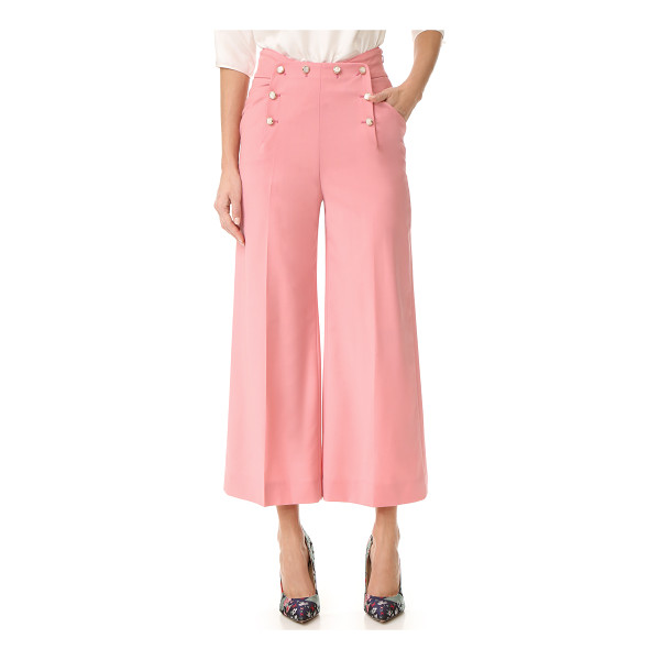 TEMPERLEY LONDON opus wide leg trousers - Chic, cropped Temperley London trousers with pearlescent