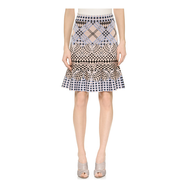 TEMPERLEY LONDON Reef knit skirt - A graphic Temperley London skirt has nautical charm with...