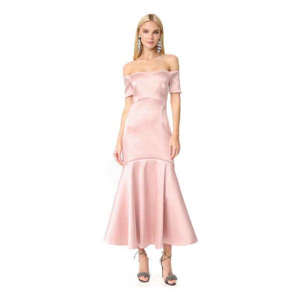 TEMPERLEY LONDON midi onyx evening dress - This lustrous satin Temperley London dress is finished with...