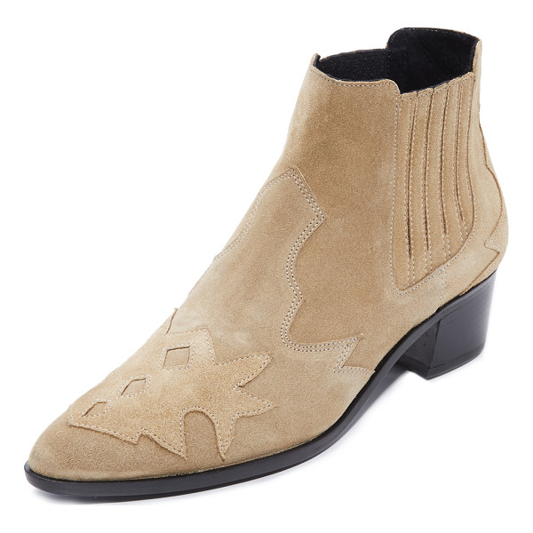 THE ARCHIVE bleeker booties - Layered, sculpted panels add a glam, western flair to these