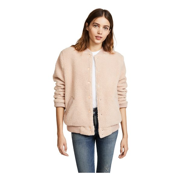 THE FIFTH LABEL jamie bomber jacket - A classic The Fifth Label bomber jacket in soft sherpa....