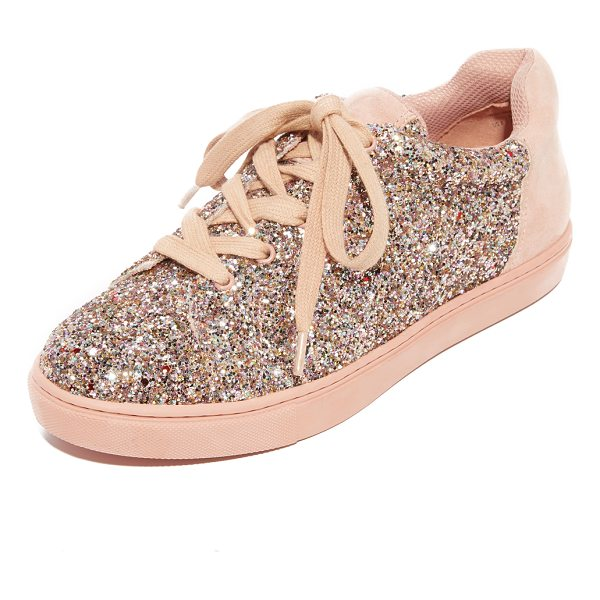 THE FIX taegan platform sneakers - Metallic glitter adds a touch of playful style to these...