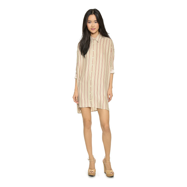 THE GREAT The shirtdress - A menswear inspired shirtdress, made feminine in luxe silk....
