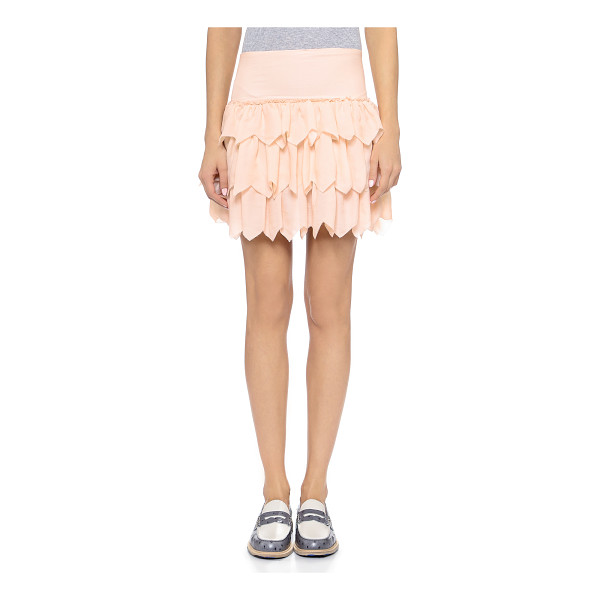 THE GREAT The tutu skirt - Layered, zigzag cut ruffles give volume to this silk THE...