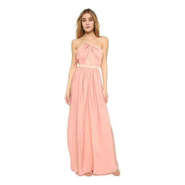 THE JETSET DIARIES Lotus maxi dress - Draped panels of luxe charmeuse compose the skirt of this...