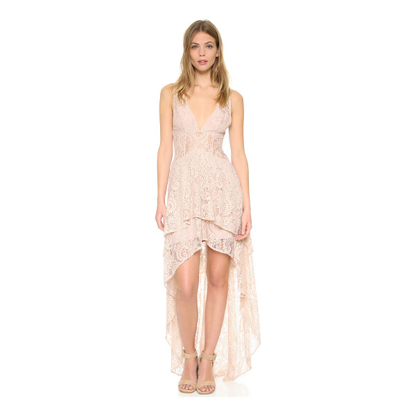 THE JETSET DIARIES resort maxi dress - A graceful high-low hem lends an elegant drape to this lace...