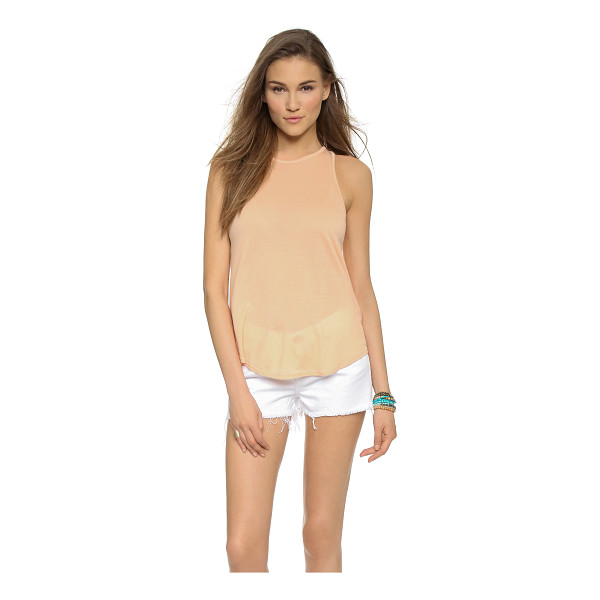 THE LADY & THE SAILOR The bare tank - A classic The Lady & The Sailor tank with banded edges....