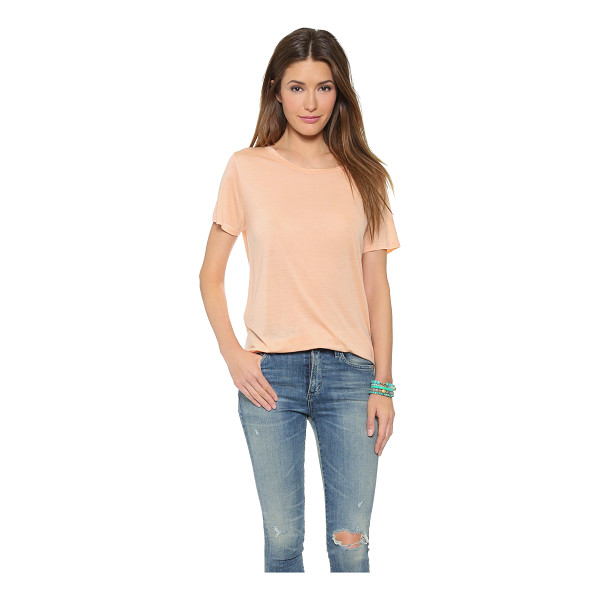 THE LADY & THE SAILOR The jersey tee - A casual tee with slim banding along the scoop neckline....