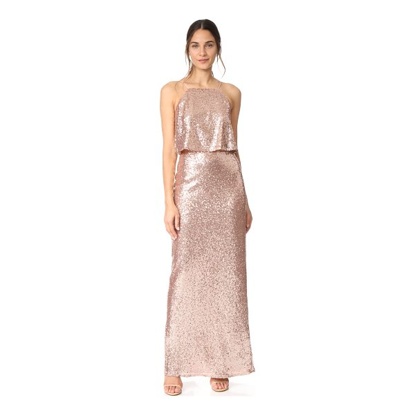 THEIA azelea gown - A romantic Theia gown, covered with shimmery sequins. A...