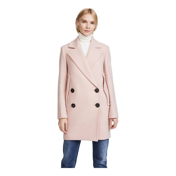 THEORY cape coat - Armholes allow this wool Theory peacoat to be worn as a...