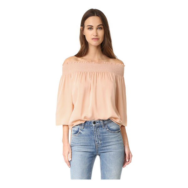 THEORY elistaire blouse - An effortless off-shoulder Theory blouse in airy silk...