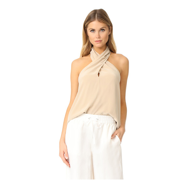 THEORY ertil halter top - A figure-draping silhouette lends effortless elegance to...