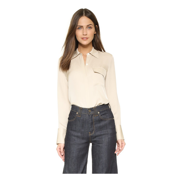 THEORY Karita top - Figure conscious tailoring lends a feminine feel to this...