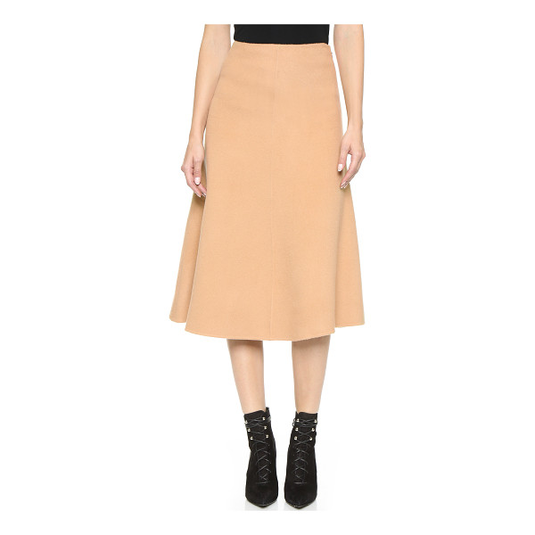 THEORY New divide uthema skirt - An A line Theory skirt with rich, brushed texture. Hidden...