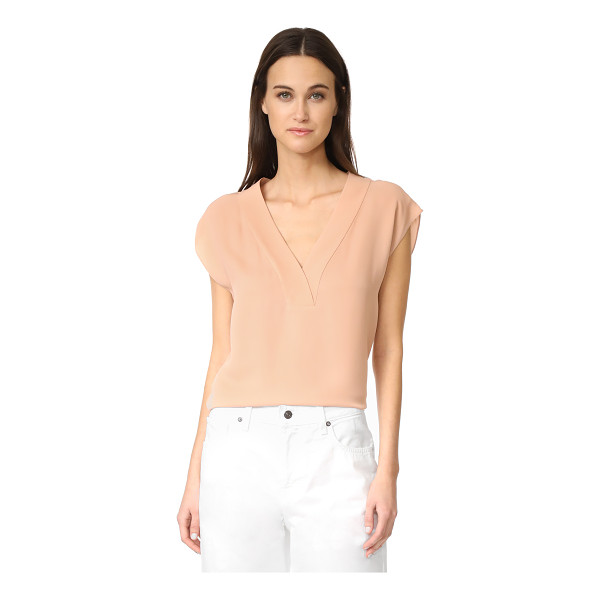 THEORY orwin v neck top - A simple Theory blouse with an effortless drape. Deep V...