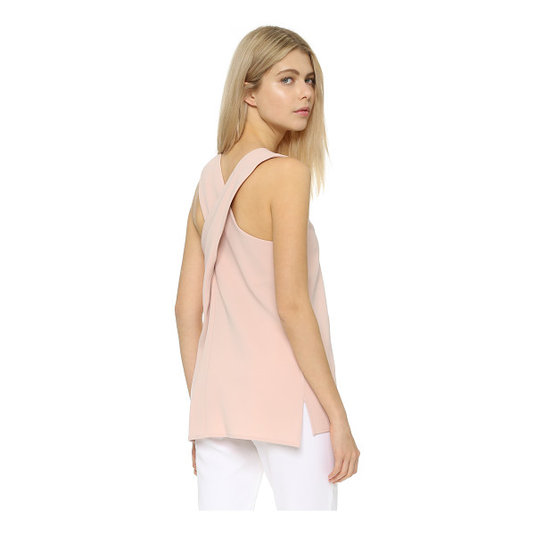 THEORY Parieom blouse - A tunic length Theory top with crisscross straps. Side...
