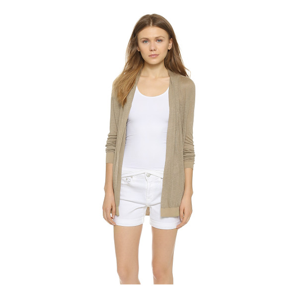 THEORY Sag harbor ashtry j cardigan - A minimalist Theory cardigan, rendered in lightweight linen...