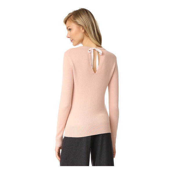 THEORY salomina cashmere sweater - A grosgrain ribbon secures the back keyhole on this simple...