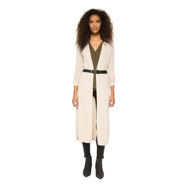 THEORY Torina cashmere cardigan - This cashmere Theory cardigan sweater has side slits and an...