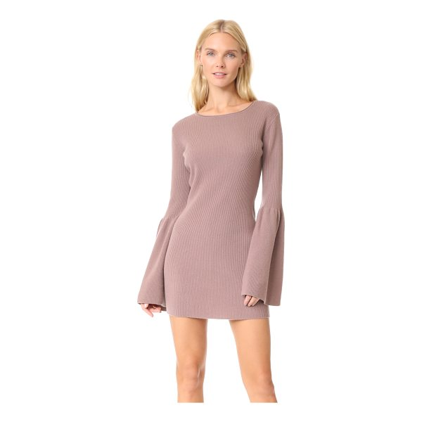 THEPERFEXT bell sleeve cashmere dress - This ribbed ThePerfext sweater dress is cut slim and...