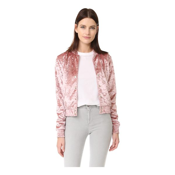 THEPERFEXT bomber jacket - Crushed velvet brings retro style to this ThePerfext bomber...