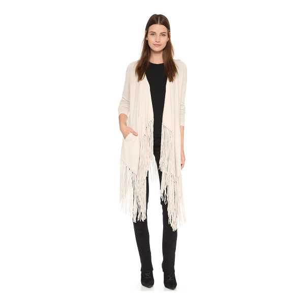 THEPERFEXT Cashmere clinton cardigan - Dramatic fringe trims the hem of this cashmere ThePerfext...