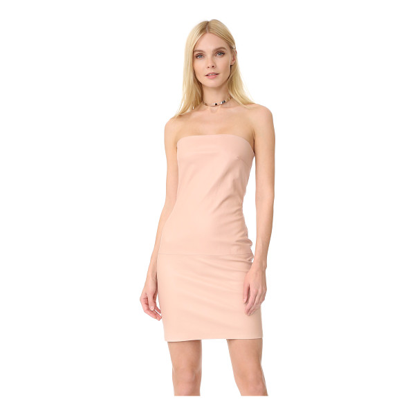 THEPERFEXT leather dress - A strapless ThePerfext dress in slick stretch leather. A...