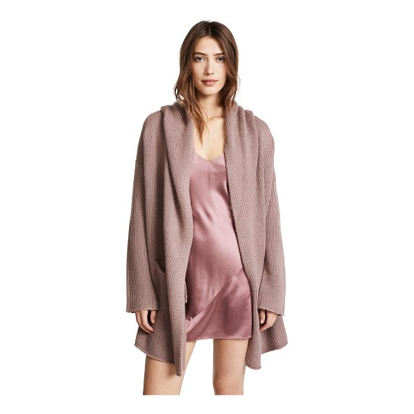 THEPERFEXT collette cozy long sweater - Fabric: Soft, purled knit Open placket Dropped shoulders...