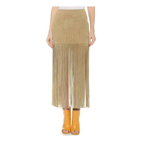 THEPERFEXT Mimi fringe skirt - This suede The Perfext miniskirt is trimmed with long,...