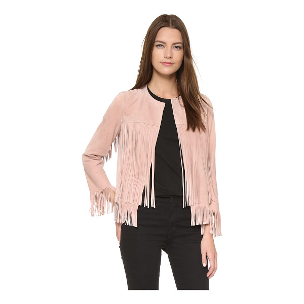 THEPERFEXT Ryder jacket - Luxe, velvety suede composes this fringed ThePerfext...