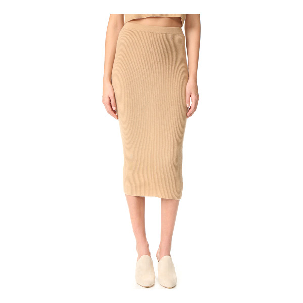THEPERFEXT cashmere skirt - A cashmere ThePerfext skirt in a formfitting silhouette.
