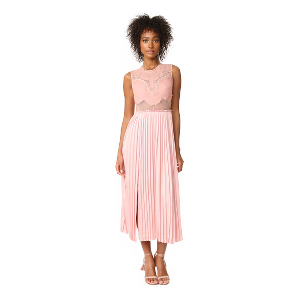 THREE FLOOR pop of peony lace dress - NOTE: Three Floor uses special sizing. Sheer panels add a...
