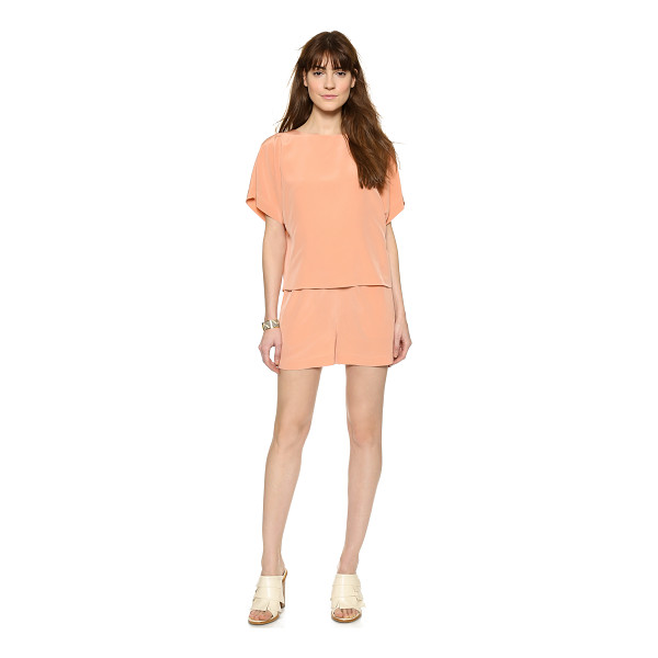 TIBI Cape romper - A voluminous overlay bodice falls lightly over the cutout...