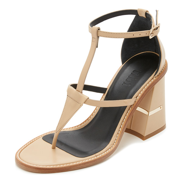 TIBI Chloe sandals - A metallic plate accents the geometric covered heel on...