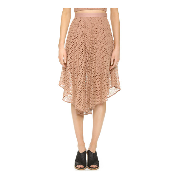 TIBI Eyelet skirt - Allover embroidery brings a sweet, feminine look to this...