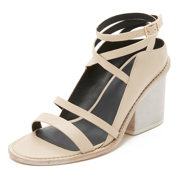TIBI Faye sandals - Tibi sandals made from sturdy, pebbled leather. The chunky,...