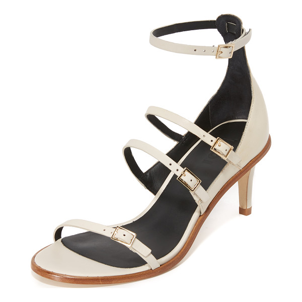 TIBI isabel sandals - Slim buckle straps accents these refined Tibi sandals....