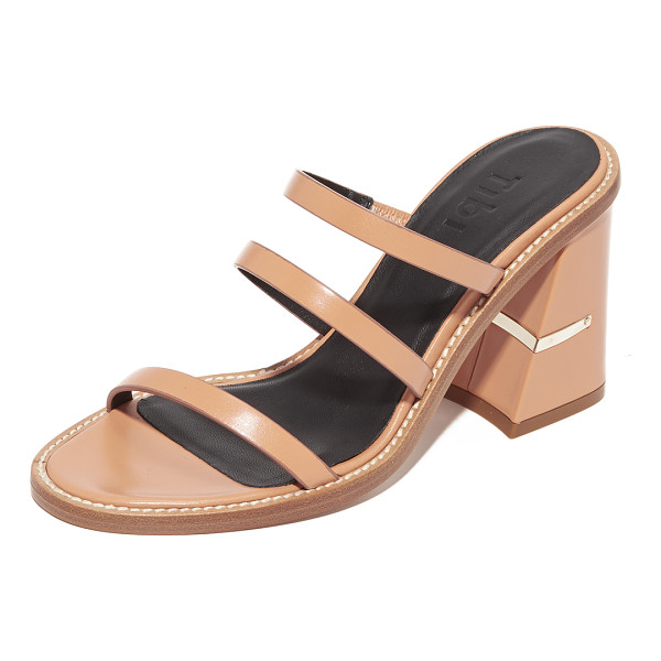 TIBI mela mules - Slim, asymmetrical straps compose these smooth leather Tibi