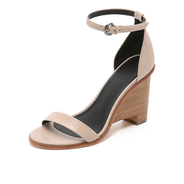 TIBI Milla wedge sandals - Smooth leather composes these refined Tibi sandals. Buckle...