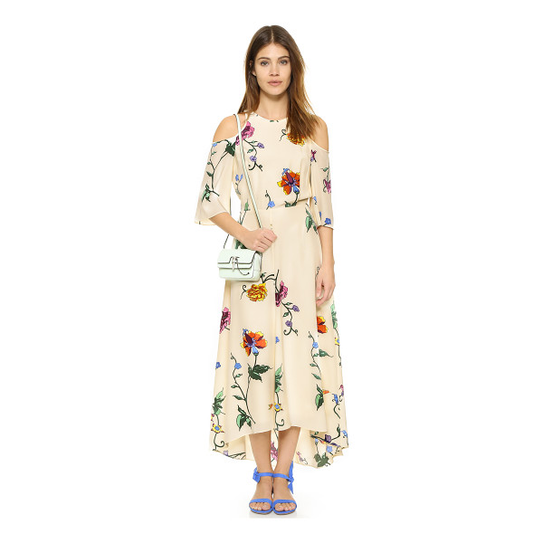 TIBI Open back dress - An illustrative floral pattern lends an artistic touch to...
