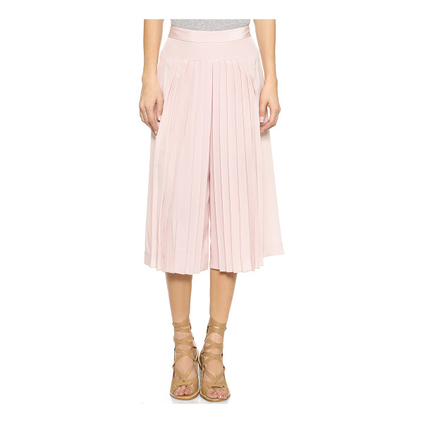 TIBI Pleated silk culottes - Fine pleats bring low key volume to these silky Tibi...
