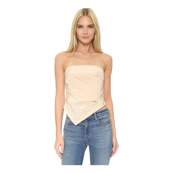 TIBI Pleated strapless top - Crisp pleats fan from the side seam on this strapless Tibi...